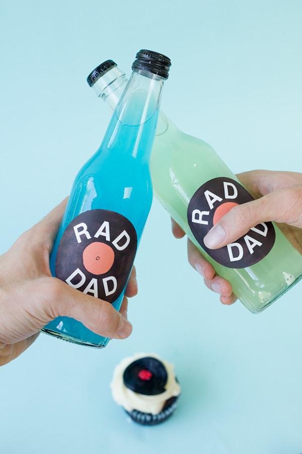 DIY Record Soda Labels