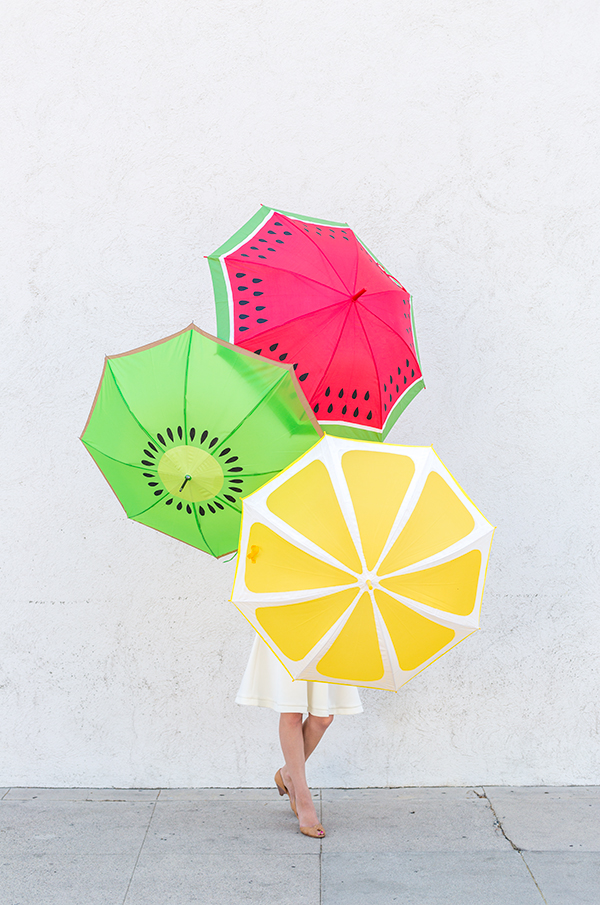 DIY Fruit Slice Umbrellas