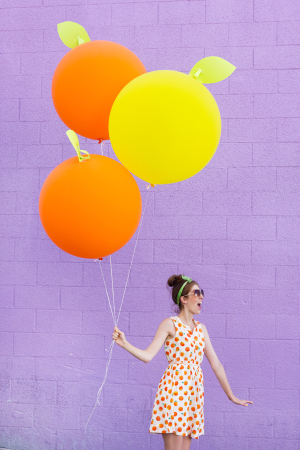 DIY Giant Citrus Balloons