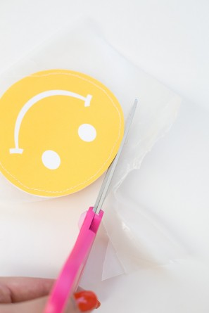 DIY Smiley Face Favor Pouches
