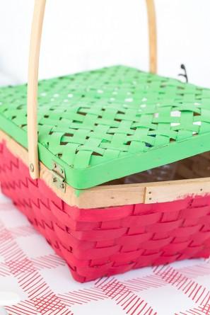 DIY Watermelon Picnic Basket