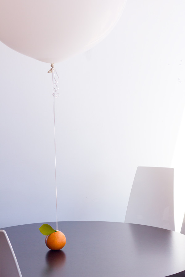 Fruit as Balloon Weights