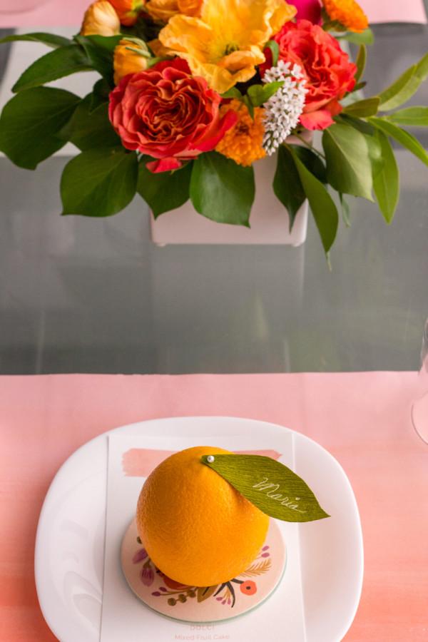 Orange and Coral Bridal Shower