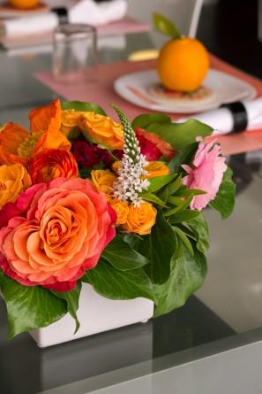 Orange and Coral Florals