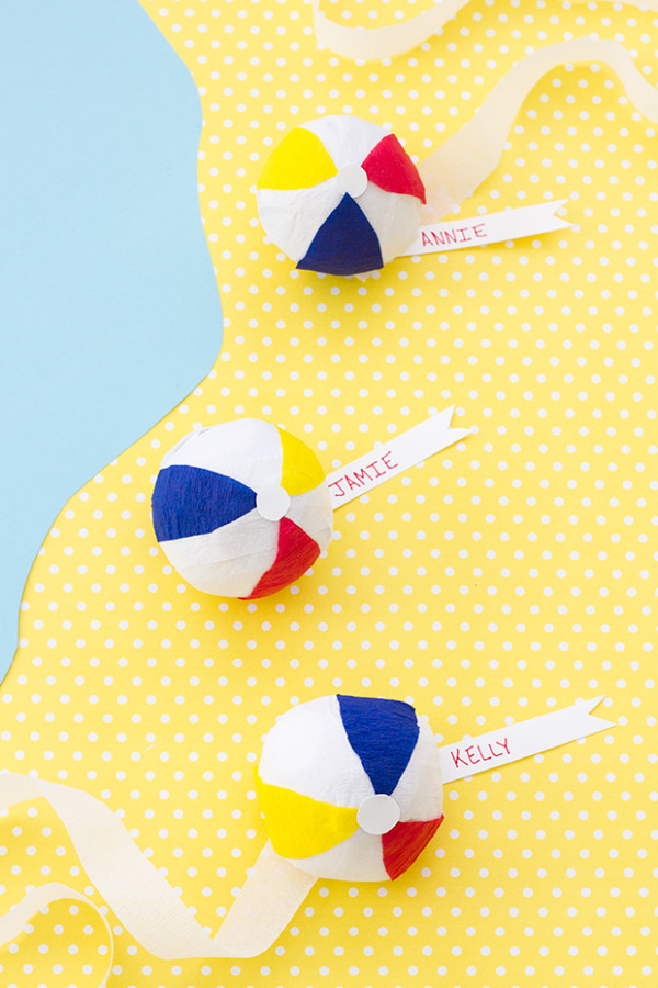 DIY Beach Ball Surprise Balls