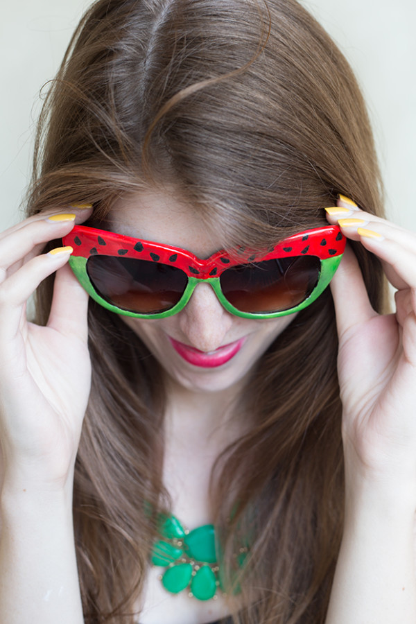 DIY Watermelon Sunglasses