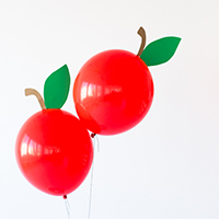 DIY Apple Balloons