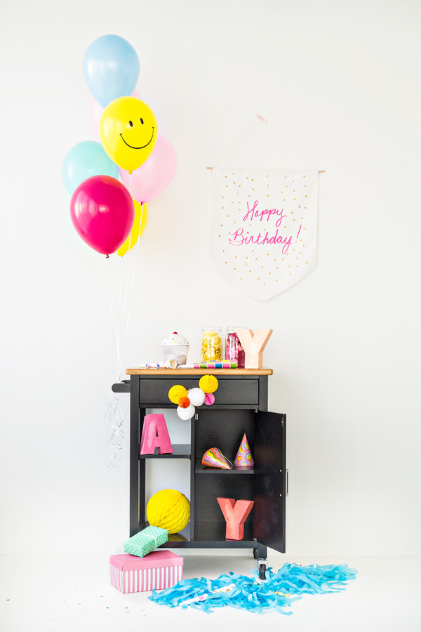 DIY Birthday Party Cart