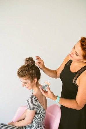 DIY Fishtail Top Knot (+ Hair Chalk!)