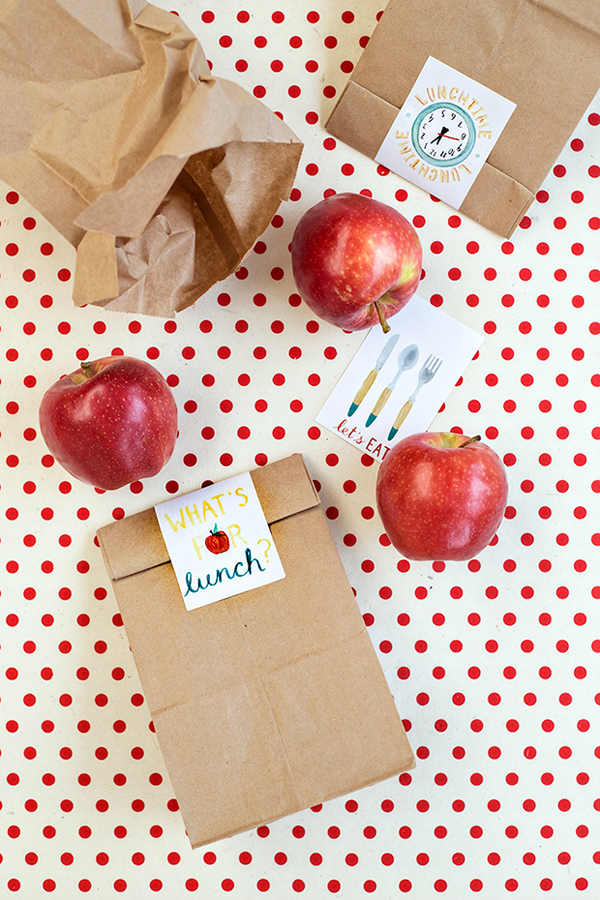 Free Printable School Lunch Bag Labels