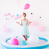 Ready, Set, Splash: A Balloon-Filled Pool Party