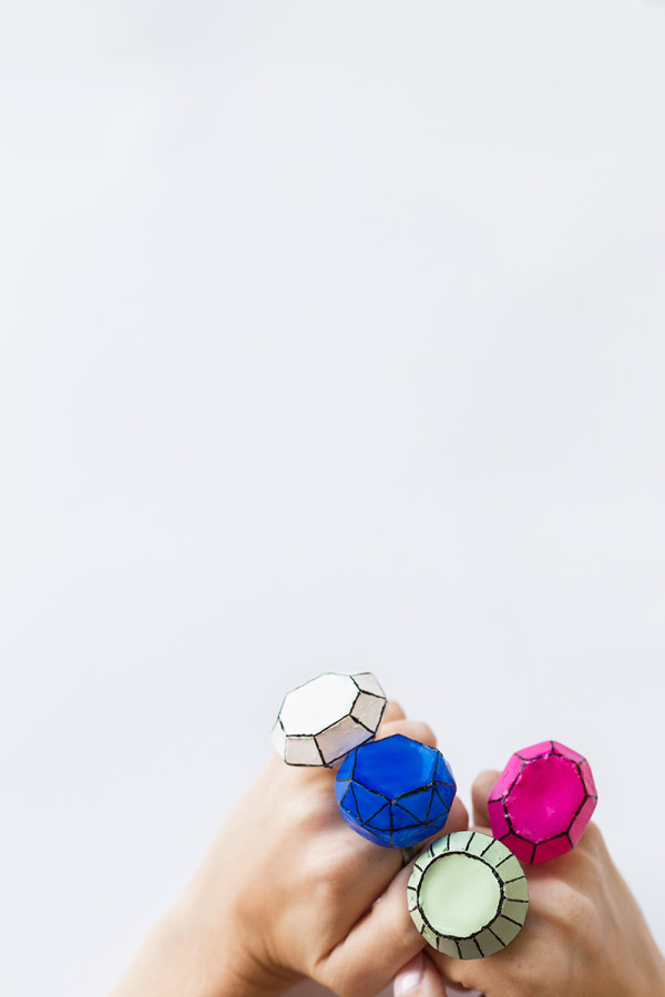 DIY Giant Gem Rings