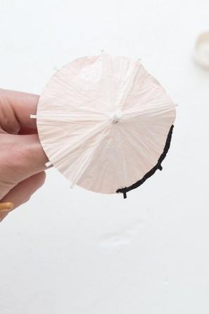 DIY Striped Drink Umbrellas