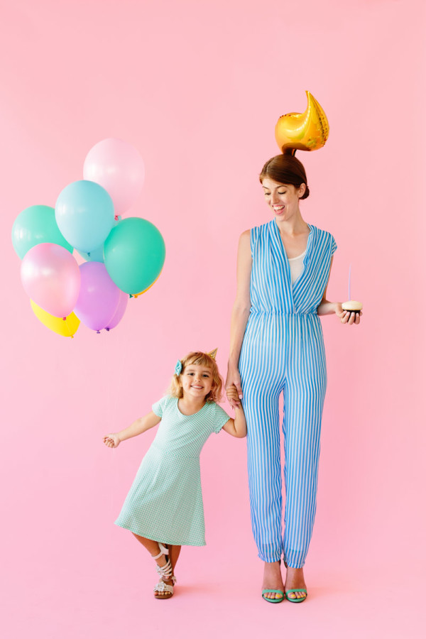 DIY Birthday Girl and Birthday Candle Costumes