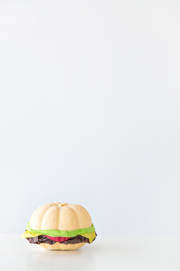 DIY Burger Pumpkin