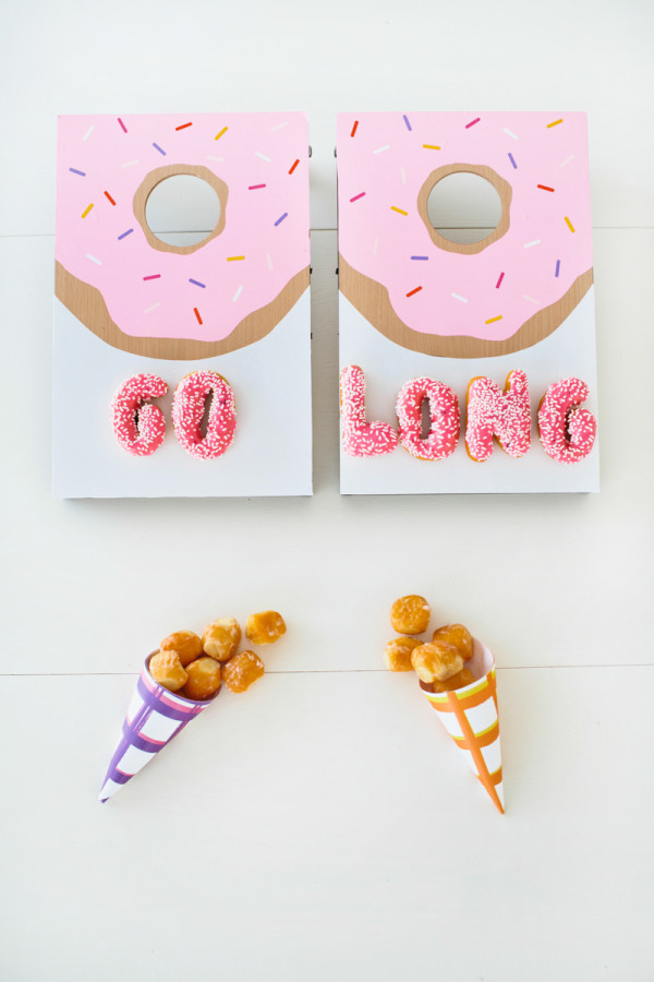DIY Donut Tabletop Cornhole