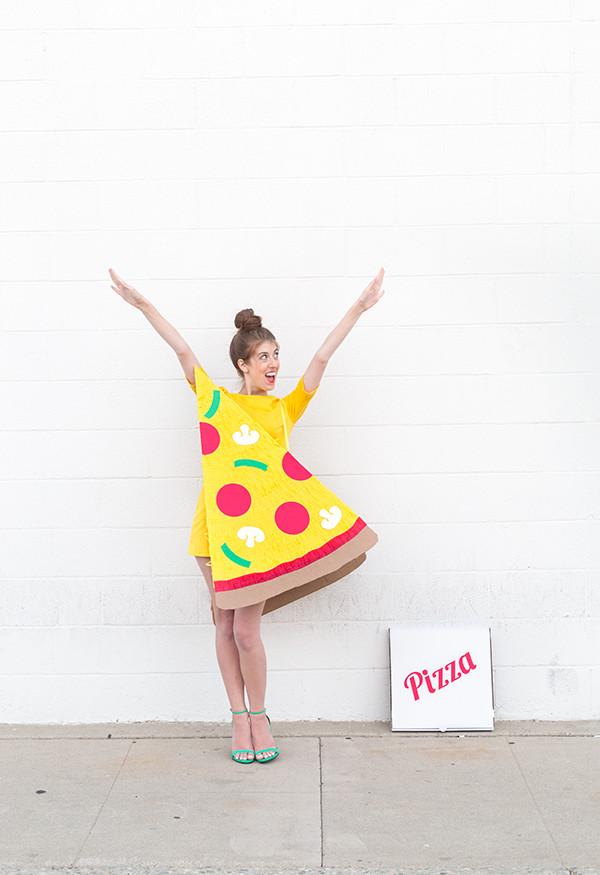 DIY Pizza Slice Costume