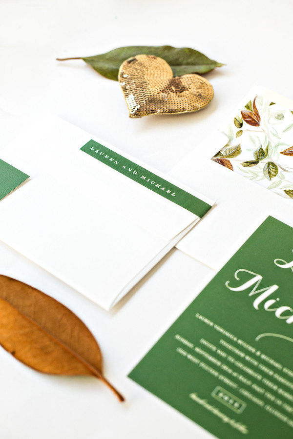 Fall Wedding Invitations + Free Printable Envelope Liner
