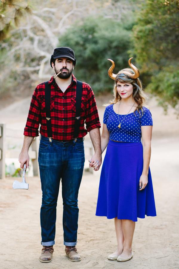 DIY Paul Bunyan and the Blue Ox Costume