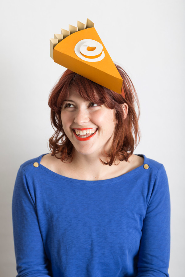 DIY Pumpkin Pie Slice Hat