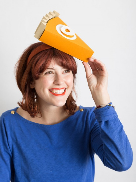 DIY Pumpkin Pie Slice Hat