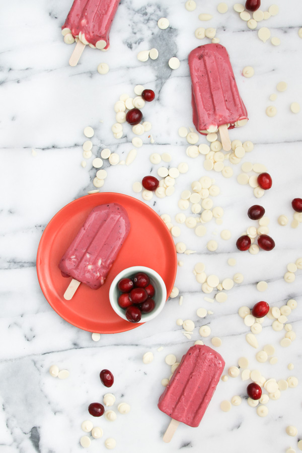 White Chocolate Cranberry Popsicles