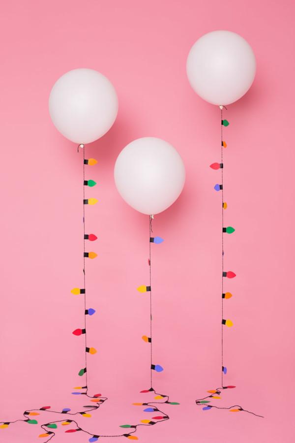 DIY Christmas Light Balloon Garlands