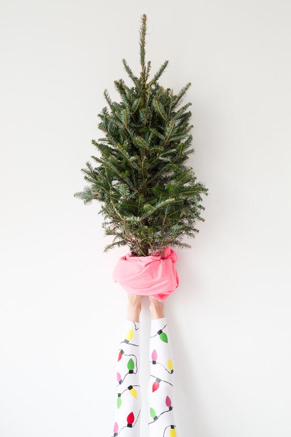 DIY Christmas Light Leggings