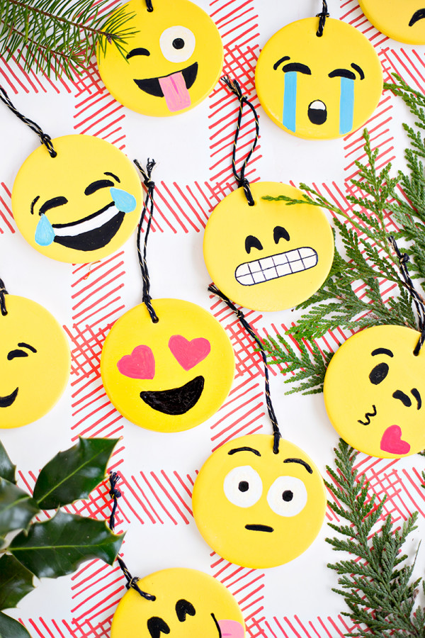 DIY Emoji Ornaments