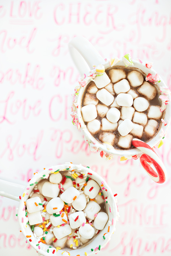 Three Colorful Ways to Drink Hot Chocolate