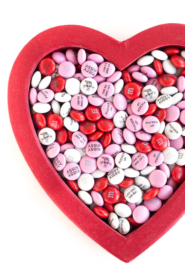 Custom M&Ms for Valentine's Day