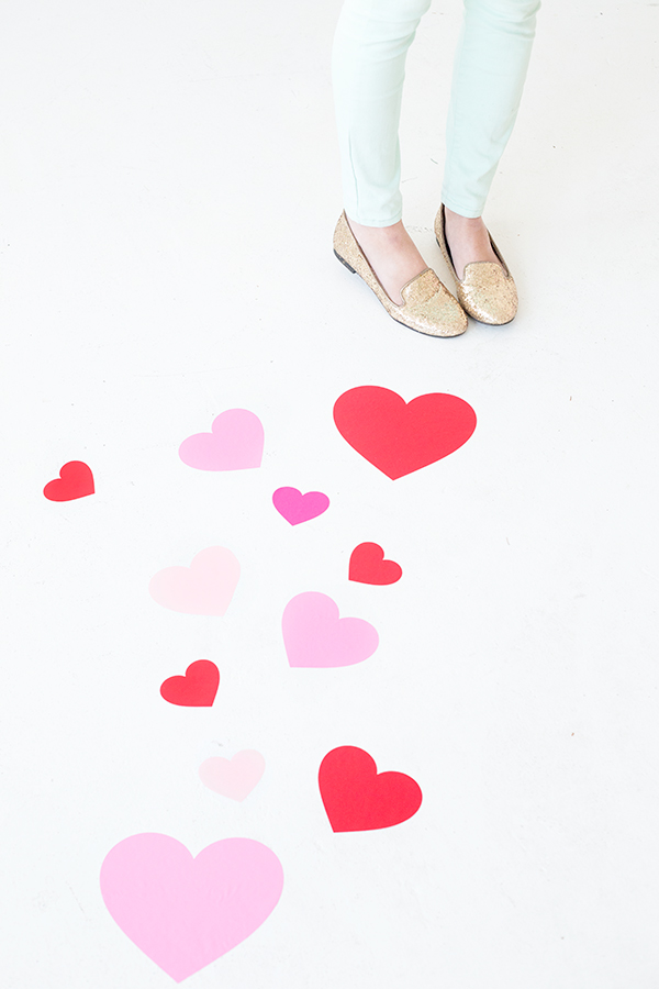 DIY Heart Floor Decals