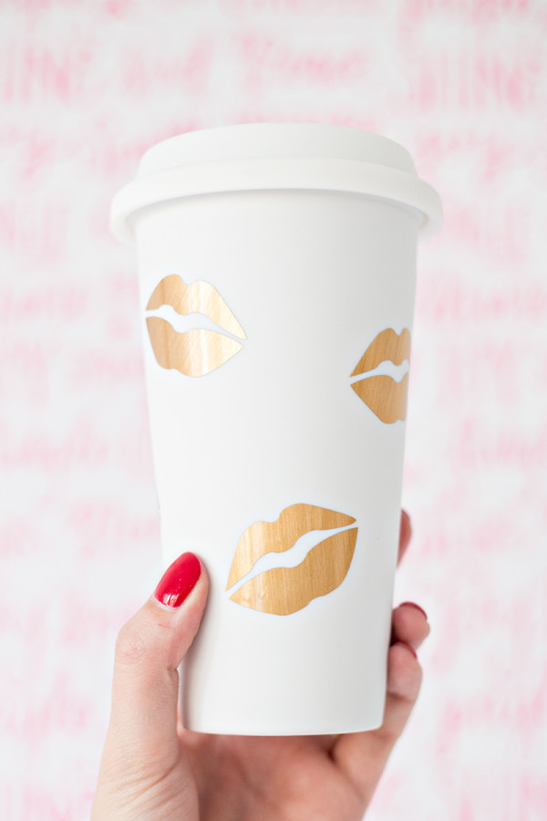 DIY Kisses Travel Mug