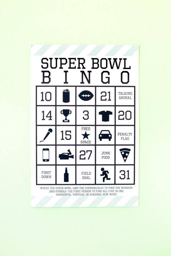 Free Printable Super Bowl Bingo