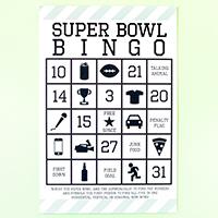 2015 Free Printable Super Bowl Bingo
