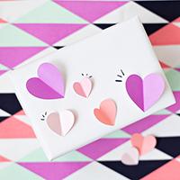 DIY 3D Heart Gift Wrap