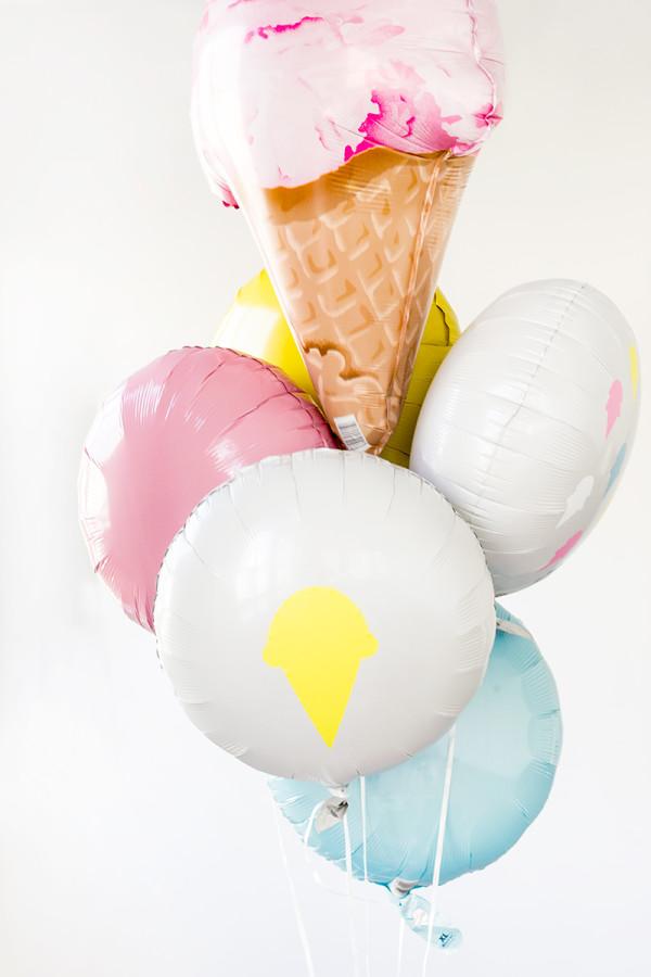 DIY Ice Cream Balloon Stickers