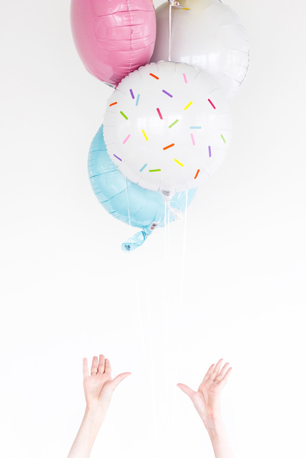 DIY Sprinkle Balloon Stickers