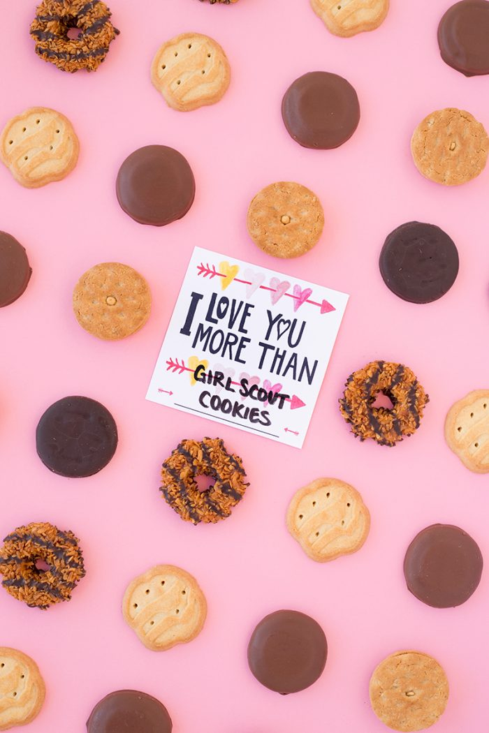 I Love You More Than Girl Scout Cookies (Free Printable!)