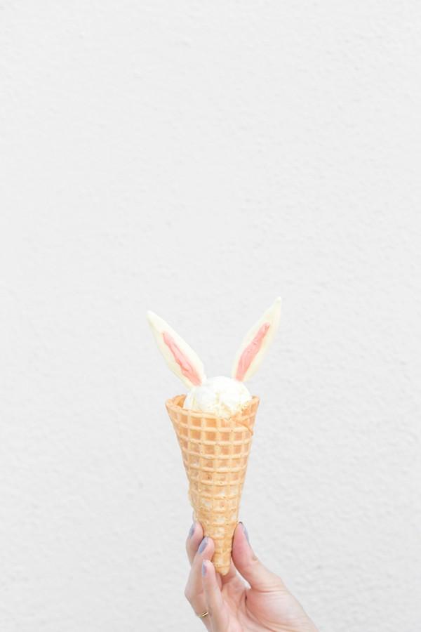 DIY Bunny Ear Ice Cream Cones