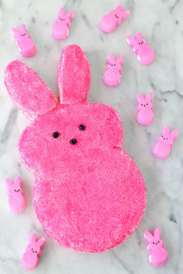 DIY Giant Easter Peep Cake