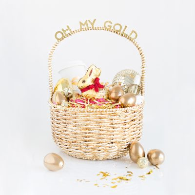 Oh My Gold! Easter Basket for Your Gal Pals
