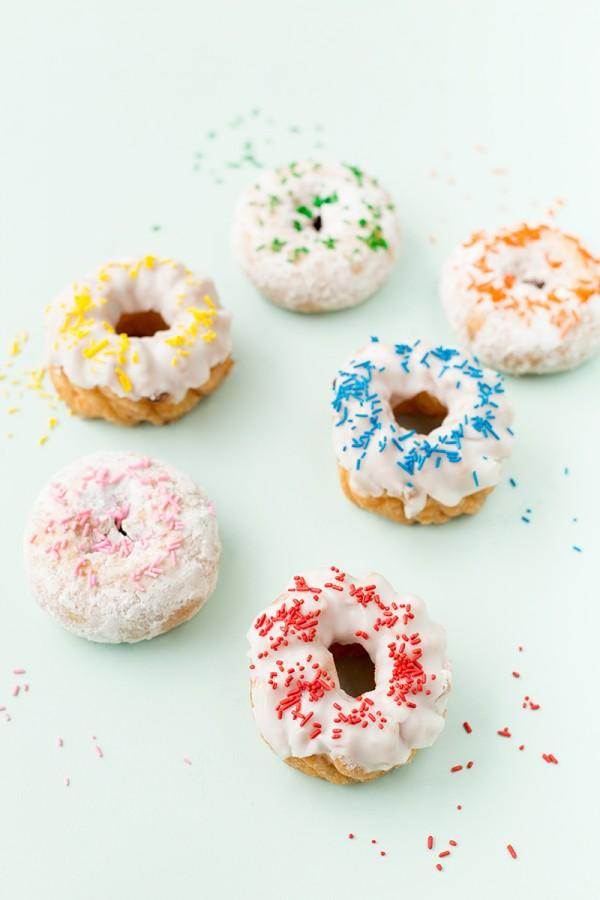 Rainbow Sprinkle Donuts