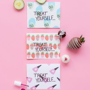 """""""Treat Yourself"""" Mother's Day Printables + Sweets"""