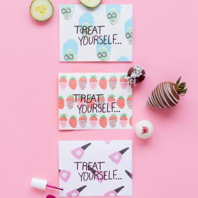 """Treat Yourself"" Mother's Day Printables + Sweets"