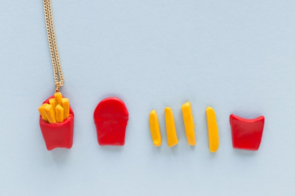 DIY Burger and Fries Friendship Necklaces