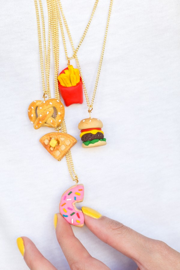 DIY Foodie Friendship Necklaces