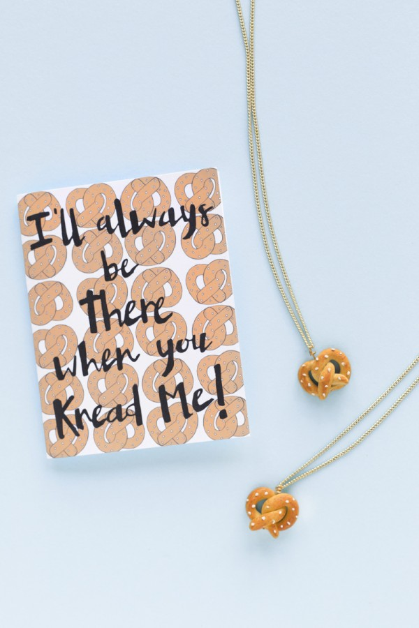 DIY Pretzel Friendship Necklaces