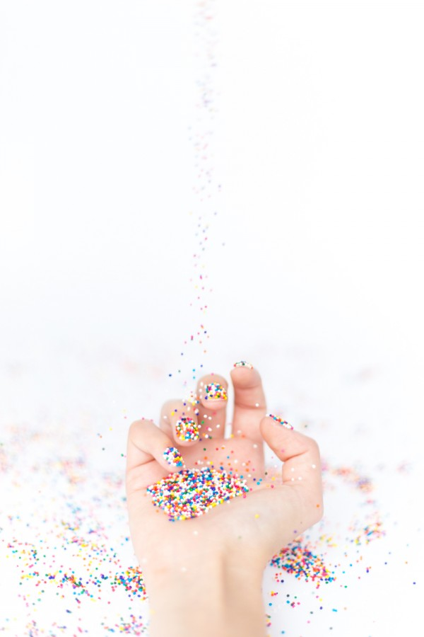 DIY Sprinkle Nails