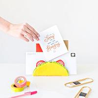 DIY Taco Letter Holder